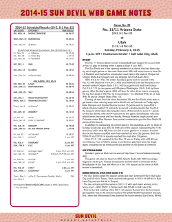 2014-15 SUN DEVIL WBB GAME NOTES