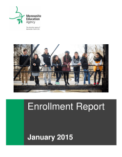 Enrollment Report 2015 PDF - Mennonite Education Agency
