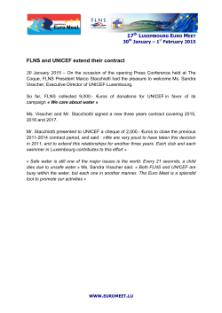 FLNS and UNICEF extend their contract