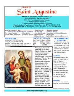 Bulletin feb 1 color - St. Augustine Church