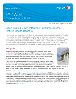 Court Strikes Down Inference Favoring Lifetime Retiree Health