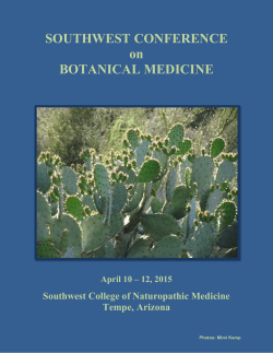 conference brochure - Herbal Educational Services