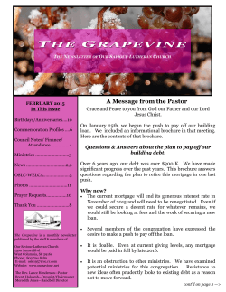 THE HE GRAPEVINE - Our Saviour Lutheran Church