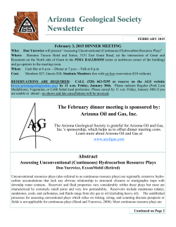 Arizona Geological Society Newsletter