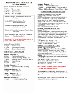 Bulletin - St. Mary Roman Catholic Church