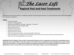 RegimA Peel and Heal Treatments
