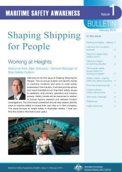 BULLETIN - Australian Maritime Safety Authority