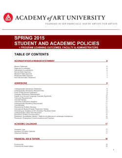 student policies - Academy of Art University