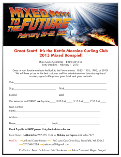 2015 Mixed Entry Form - Kettle Moraine Curling Club