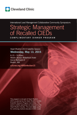 Strategic Management of Recalled CIEDs