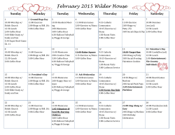 Monthly Activity Calendar