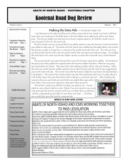 Kootenai Chapter Newsletter