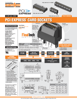 PCI EXPRESS CARD SOCKETS