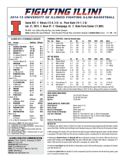 Game #22 // Illinois (13-8, 3-5) vs. Penn State (14-7, 2