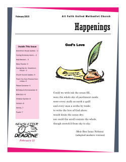 Happenings - All Faith United Methodist Church