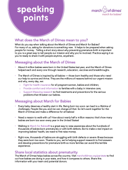 PDF (988kb) - March for Babies