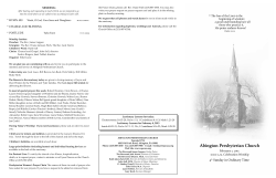 Bulletin 020115 - Abington Presbyterian Church