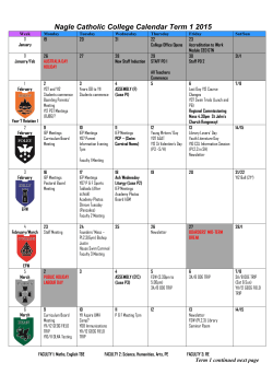Download our College Calendar.