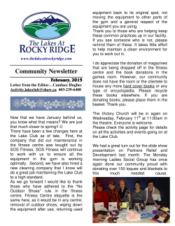 The Lakes at Rocky Ridge News Letter in PDF