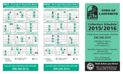 02 Green Collection Schedule 2015/2016