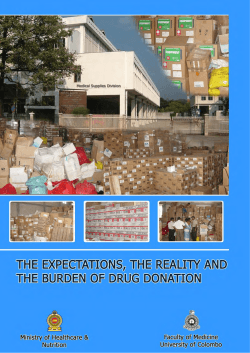 The Expectations, the Reality and the Burden of Drug Donations