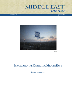 ISRAEL AND THE CHANGING MIDDLE EAST