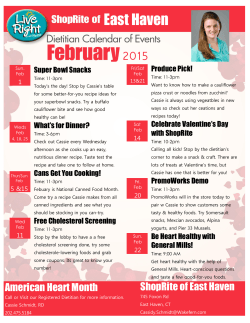 ShopRite of East Haven, CT February 2015Calendar