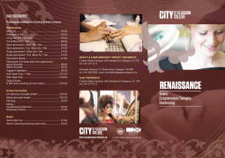 Renaissance Price List - City of Glasgow College