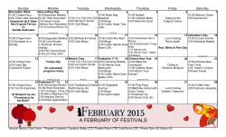to view our February 2015 calendar of activities and events.