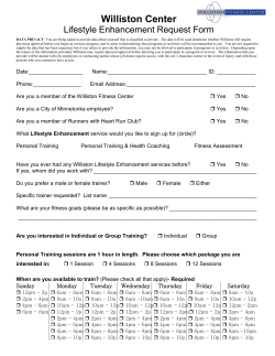 Lifestyle Enhancement request form and Health History Questionnaire.