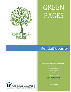 Green Pages - Kendall County Health Department