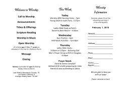 Bulletin February 1 - Rose Hill Friends Church