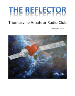 the Current Newsletter - Thomasville Amateur Radio Club