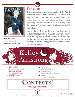 Contests! - Kelley Armstrong