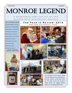 MONROE LEGEND - Monroe Historical Society