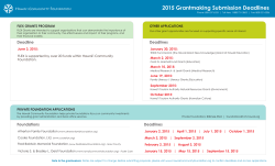 Printable Grants Calendar - Hawaii Community Foundation
