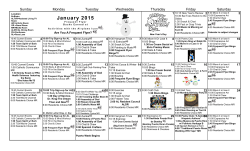 Assisted Living Activities Calendar