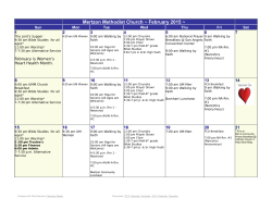 April Calendar 2013 - First United Methodist Church Mertzon
