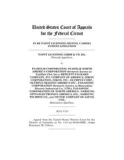Papst Licensing v. Fujifilm Corporation
