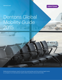 Dentons Global Mobility Guide 2015