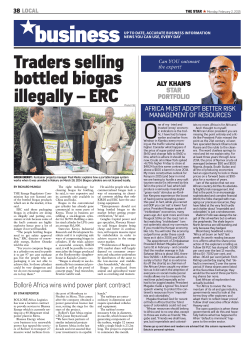 Traders selling bottled biogas illegally – ERC