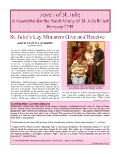 February2015 - St. Julie Billiart Parish
