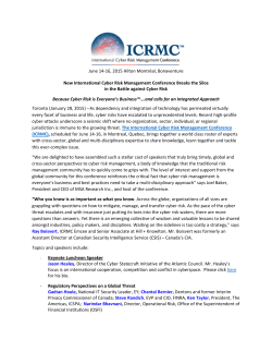 Download Press Release - International Cyber Risk Management