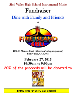Fundraiser - Simi High Music
