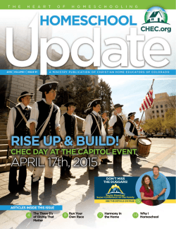 Update Magazine - Christian Home Educators of Colorado