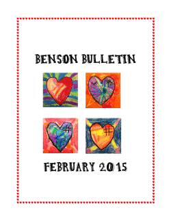 Benson Bulletin, February 2015 - Itasca Public School District 10