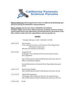 Agenda CA CFSF 2.3.15 FINAL - California Association of Criminalists