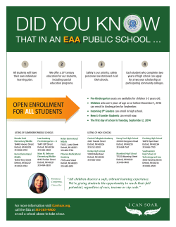 Learn how the EAA gives your students the wings to soar