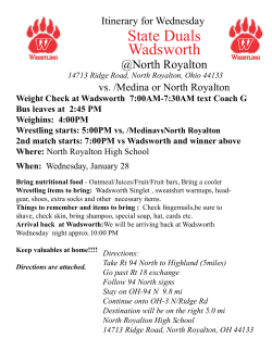 Itinerary - WadsworthWrestling.com