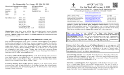 02-01-15 Opportunities - St. Pauls Lutheran Church, School and